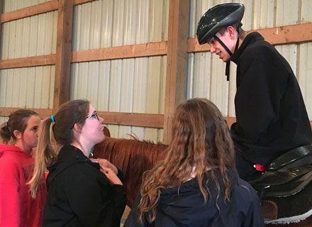 Demonstrating the benefits of horseback riding