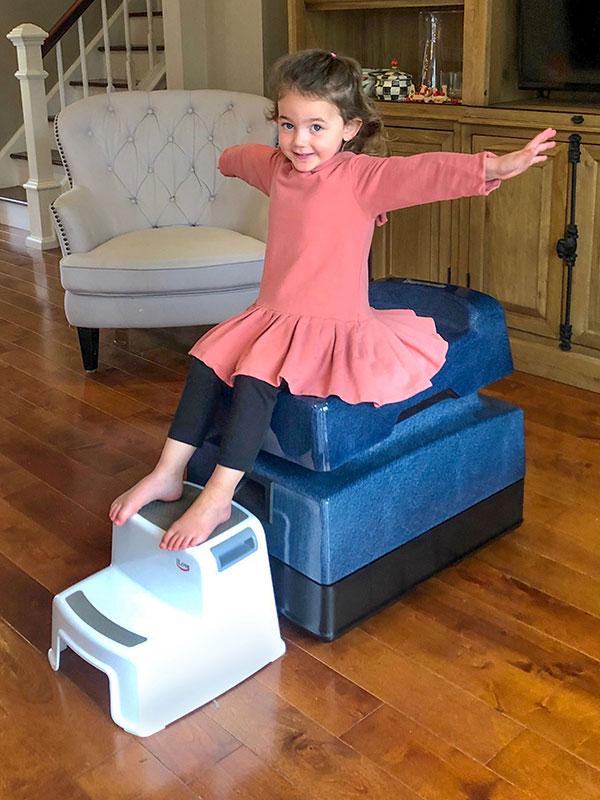 Child sitting on REST